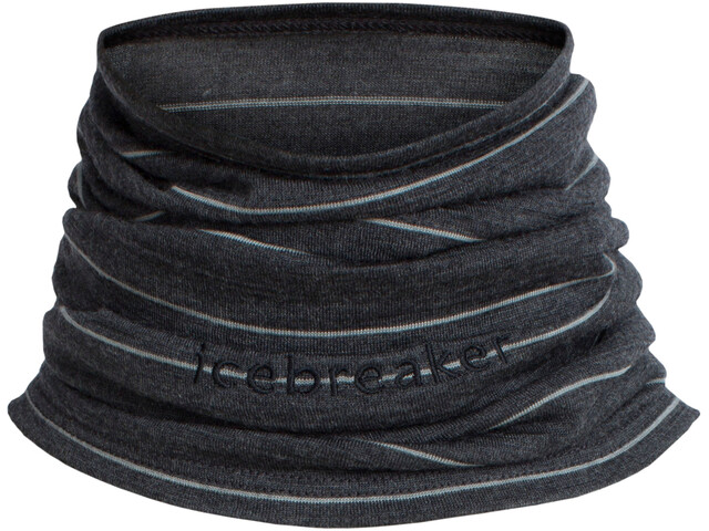 Icebreaker Flexi Chute Neckwear Unisex jet heather/stripe